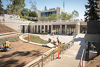 Exterior of the newly remodeled Hameetman Career Development Center, AGC, Sept. 24, 2015.<br />