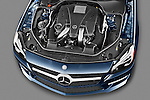 High angle engine detail of a 2013 Mercedes SL Class  .