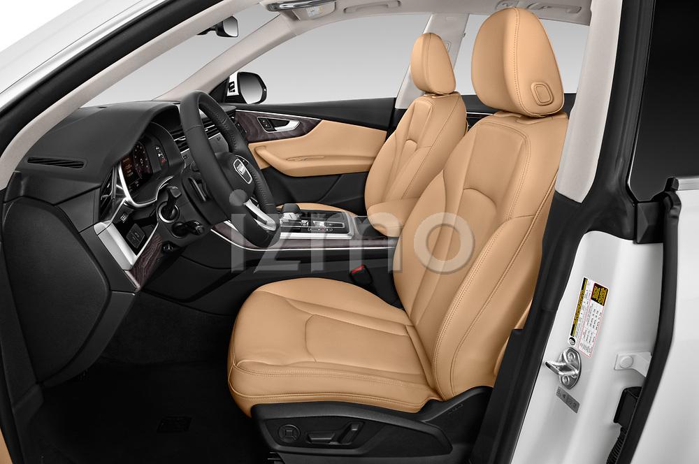Front seat view of a 2019 Audi q8 Premium Plus 5 Door SUV front seat car photos