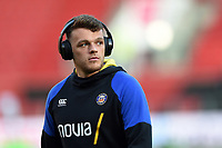 Zach Mercer of Bath Rugby looks on during the pre-match warm-up. Gallagher Premiership match, between Bristol Bears and Bath Rugby on August 31, 2018 at Ashton Gate Stadium in Bristol, England. Photo by: Patrick Khachfe / Onside Images