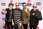 """""""INGLEWOOD, CALIFORNIA - APRIL 03:  (L-R) Musicians Kevin Ray, Nicholas Petricca, Eli Maiman and Sean Waugaman of Walk the Moon attend the iHeartRadio Music Awards at The Forum on April 3, 2016 in Inglewood, California.  (Photo by Jesse Grant/Getty Images for iHeartRadio / Turner)"""""""
