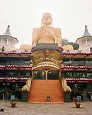 SRI LANKA, Asia, Dambulla, facade of Golden Buddha temple
