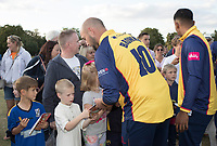 Nick Browne signs autographs at the end of the benefit game between Upminster CC vs Essex CCC, Benefit Match Cricket at Upminster Park on 8th September 2019