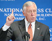 Washington, DC - September 28, 2007 --  United States Representative Steny H. Hoyer (Democrat of the 5th District of Maryland), the Majority (Democratic) Leader of the United States House of Representatives, speaks at the National Press Club in Washington, D.C. on Friday, September 28, 2007..Credit: Ron Sachs / CNP