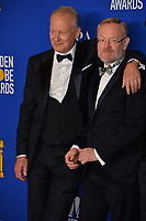 LOS ANGELES, USA. January 05, 2020: Stellan Skarsgard & Jared Harris in the press room at the 2020 Golden Globe Awards at the Beverly Hilton Hotel.<br /> Picture: Paul Smith/Featureflash
