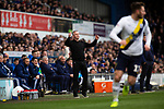 Ipswich Town 0, Oxford United 1, 22/02/2020. Portman Road, SkyBet League One. Home team manager Paul Lambert watching the second-half as Ipswich Town play Oxford United in a SkyBet League One fixture at Portman Road. Both teams were in contention for promotion as the season entered its final months. The visitors won the match 1-0 through a 44th-minute Matty Taylor goal, watched by a crowd of 19,363. Photo by Colin McPherson.