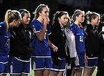 (Worcester Ma 111613) Granby High  girl soccer players look on as Newburyport High celebrates, during the MIAA State Girls Soccer Division Three final, between Newburyport High and Granby High, Newburyport won the game 1-0, Saturday at Foley Stadium in Worcester. (Jim Michaud Photo) For Sunday