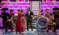 Miguel and Natalia Lafourcade performing &quot;Remember Me&quot; during the live ABC Telecast of The 90th Oscars&reg; at the Dolby&reg; Theatre in Hollywood, CA on Sunday, March 4, 2018.<br /> *Editorial Use Only*<br /> CAP/PLF/AMPAS<br /> Supplied by Capital Pictures