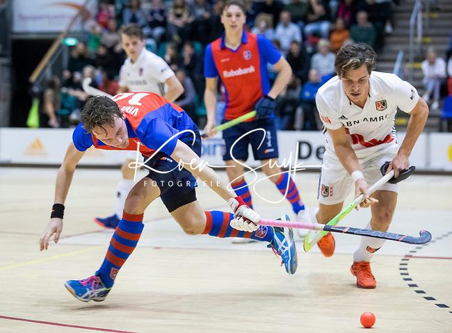 ROTTERDAM  - NK Zaalhockey . finale heren: SCHC-Amsterdam (2-2, SCHC wint shoot-outs) . Luuk van Duren (SCHC)  .  COPYRIGHT KOEN SUYK