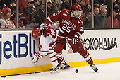 Tommy Kelley (BU - 22), Wiley Sherman (Harvard - 25) - The Harvard University Crimson defeated the Boston University Terriers 6-3 (EN) to win the 2017 Beanpot on Monday, February 13, 2017, at TD Garden in Boston, Massachusetts.
