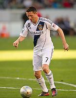 CARSON, CA - March 18,2012: LA Galaxy forward Robbie Keane (7) during the LA Galaxy vs DC United match at the Home Depot Center in Carson, California. Final score LA Galaxy 3, DC United 1.