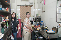 Mrs. Lynette Maher (L) who migrated to Melbourne decades ago visits Kolkata once a year, and spends time with her friend Lorraine Gueizelar (R).