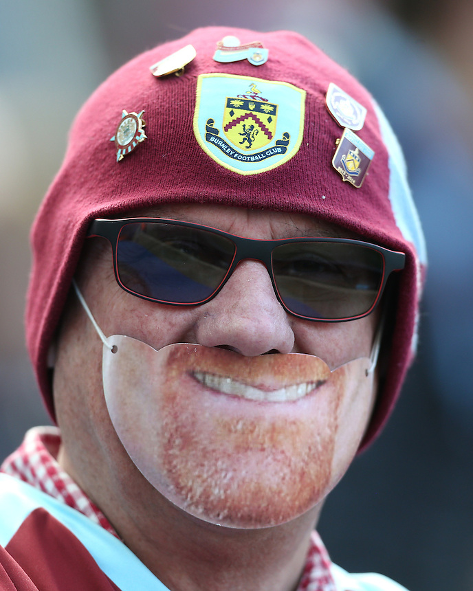 Burnley fan<br /> <br /> Photographer Rob Newell/CameraSport<br /> <br /> Football - The Football League Sky Bet Championship - Brighton and Hove Albion v Burnley - Saturday 2nd April 2016 - American Express Community Stadium - Brighton<br /> <br /> &copy; CameraSport - 43 Linden Ave. Countesthorpe. Leicester. England. LE8 5PG - Tel: +44 (0) 116 277 4147 - admin@camerasport.com - www.camerasport.com