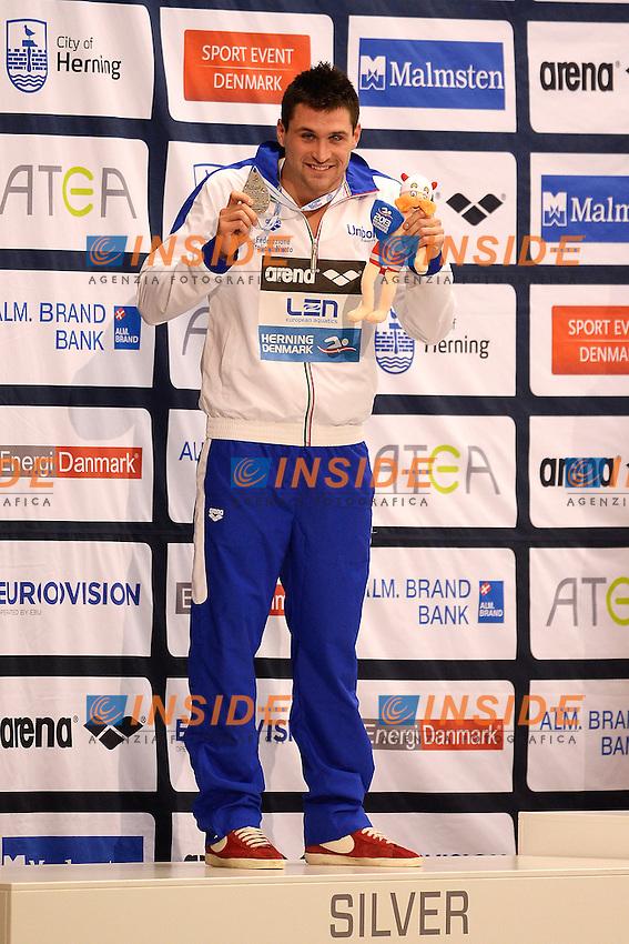Marco Orsi Italia 50m Freestyle Silver Medal <br /> Herning 12-12-2013 Jyske Bank Boxen <br /> European Short Course Swimming Championships - Campionati Europei nuoto vasca corta<br /> Foto Andrea Staccioli / Insidefoto