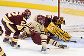 Luke McManus (Duluth - 22), Johnny Gaudreau (BC - 13), Kenny Reiter (Duluth - 35) - The Boston College Eagles defeated the University of Minnesota Duluth Bulldogs 4-0 to win the NCAA Northeast Regional on Sunday, March 25, 2012, at the DCU Center in Worcester, Massachusetts.