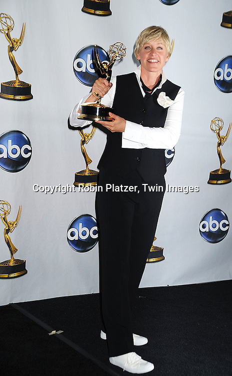 Ellen Degeneres, winner of Outstanding Talk Show Host..at The 35th Annual Daytime Entertainment Emmy Awards at The Kodak Theatre on June 20, 2008 in Hollywood California.....Robin Platzer, Twin Images
