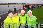 Marie Hickey, Sheila Curtin, George Glover and Catherine Conroy, all taking part in the Santa 5k fun run at Tralee Bay Wetlands on Sunday.