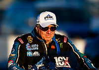 Jan 31, 2018; Chandler, AZ, USA; NHRA funny car driver John Force during Nitro Spring Training Testing at Wild Horse Pass Motorsports Park. Mandatory Credit: Mark J. Rebilas-USA TODAY Sports