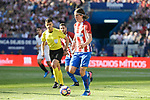 Atletico de Madrid's  Filipe Luis during La Liga match between Atletico de Madrid and Sevilla CF at Vicente Calderon Stadium in Madrid, Spain. March 19, 2017. (ALTERPHOTOS/BorjaB.Hojas)