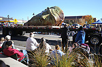 Mischell Riley's &quot;Inside the Mind of daVinci&quot; sculpture moves down Carson Street during the 79th Nevada Day parade in Carson City, Nev., on Saturday, Oct. 28, 2017. <br /> Photo by Cathleen Allison/Nevada Momentum