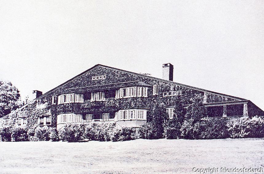 McKim, Mead & White: William G.Low House, Bristol, R. I., 1887. Shingle style. Demolished in 1962.