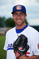 Chattanooga Lookouts pitcher Zack Jones (35) poses for a photo before a game against the Jacksonville Suns on April 30, 2015 at AT&T Field in Chattanooga, Tennessee.  Jacksonville defeated Chattanooga 6-4.  (Mike Janes/Four Seam Images)