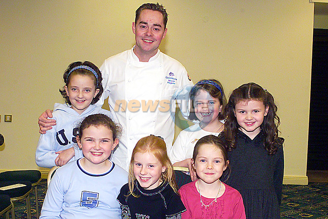 RTE's Neven Maguire with Young Fans at The Flo Gas Christmas Cookery Damonstration in The Boyne Valley Hotel...Pic Tony Campbell Newsfile