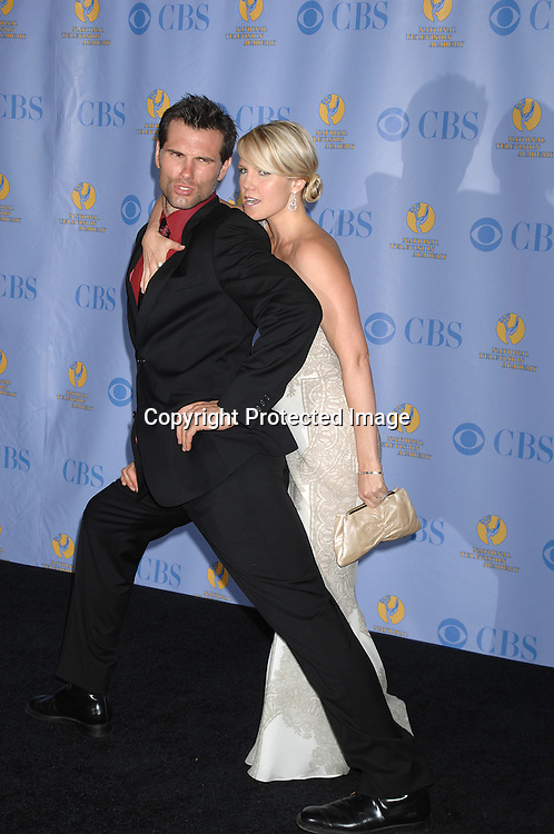 Austin Peck and Terri Colombino..posing for photographers in the Press Room at The 34th Annual Daytime Emmy Awards on June 15,2007 at The ..Kodak Theatre in Hollywood, California. ..Robin Platzer, Twin Images......212-935-0770