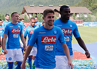 SSC Napoli' players Jorginho  <br />  wears a new home jersey during a preseason training camp in Dimaro Italy 11 jul 2017 Photo: Ciro De Luca SilverHub  +39 02 43998577 sales@silverhubmedia.it