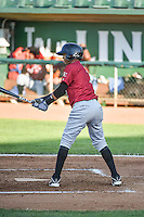 Jeckson Flores (2) of the Idaho Falls Chukars at bat against the Ogden Raptors in Pioneer League action at Lindquist Field on June 22, 2015 in Ogden, Utah. The Chukars defeated the Raptors 4-3 in 11 innings.  (Stephen Smith/Four Seam Images)