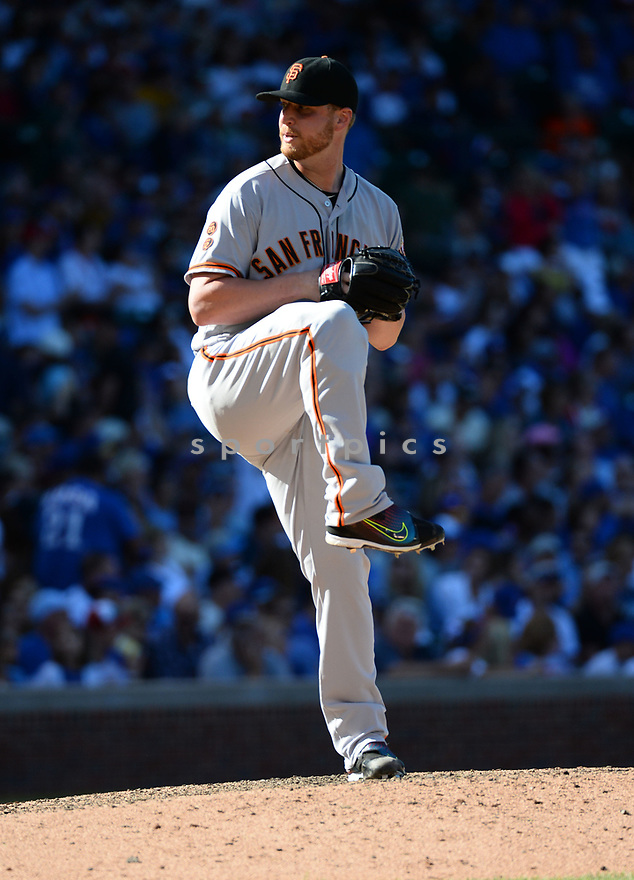 San Francisco Giants Will Smith (13) during a game against the Chicago Cubs on September 3, 2016 at Wrigley Field in Chicago, IL. The Giants beat the Cubs 3-2.