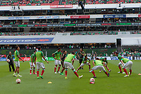 Mexico City, Mexico - Sunday June 11, 2017: Mexico, El Tri during a 2018 FIFA World Cup Qualifying Final Round match with both men's national teams of the United States (USA) and Mexico (MEX) playing to a 1-1 draw at Azteca Stadium.