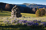 A large rock cairn used by sheep herders in the Snowcrest Mountains in Montana