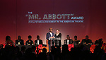 David Roberts and Kathleen Marshall during the SDC Foundation presents The Mr. Abbott Award honoring Kenny Leon at ESPACE on March 27, 2017 in New York City.