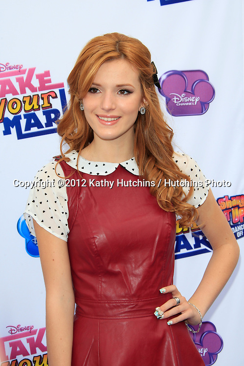 "LOS ANGELES - OCT 6:  Bella Thorne arrives at the  ""Make Your Mark: Shake It Up Dance Off 2012"" at LA Center Studios on October 6, 2012 in Los Angeles, CA"