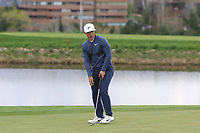 Thorbjorn Olesen (DEN) on the 12th green during Round 2 of the Open de Espana 2018 at Centro Nacional de Golf on Friday 13th April 2018.<br /> Picture:  Thos Caffrey / www.golffile.ie<br /> <br /> All photo usage must carry mandatory copyright credit (&copy; Golffile | Thos Caffrey)