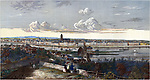 Frankfurt Am Main by H Worms-Stadtansicht vom Muehlberg. Engraving 1845<br /> Вольный город Франкфурт на гравюре 1845 года