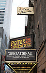 Theatre Marquee at the Broadway Opening Night Performance of 'Peter And The Starcatcher' at the Brooks Atkinson Theatre on 4/15/2012 in New York City.