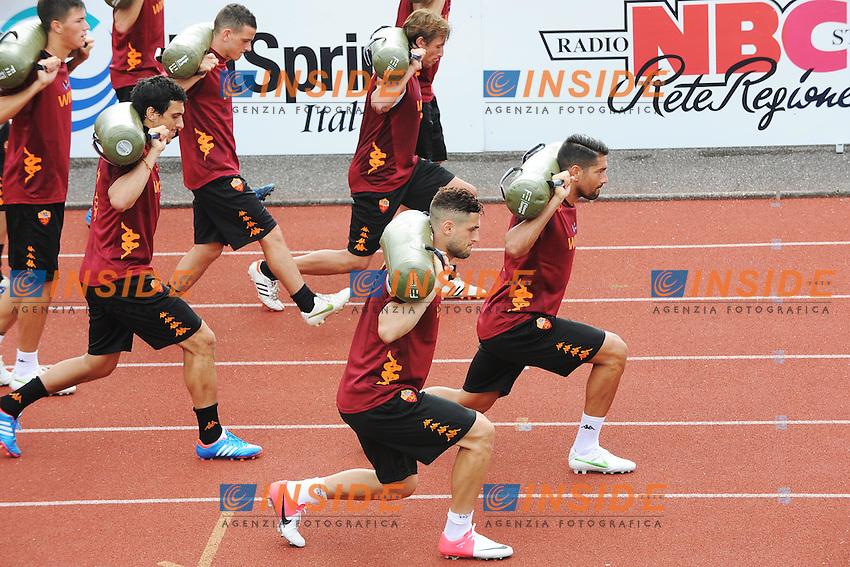 Il gruppo continua l'allenamento pomeridiano Riscone di Brunico (BZ) 06/07/2012 Allenamento As Roma.Football Calcio 2012/2013 .Foto Insidefoto Christian Mantuano