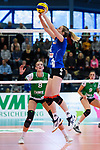 18.11.2018, Halle Berg Fidel, Muenster<br />Volleyball, Bundesliga Frauen, Normalrunde, USC MŸnster / Muenster vs. VfB Suhl Lotto ThŸringen / Thueringen<br /><br />Zuspiel Taylor Bruns (#17 Suhl)<br /><br />  Foto © nordphoto / Kurth