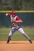 Indiana Hoosiers shortstop Brian Whilhite (11) during practice before a game against the Illinois State Redbirds on March 4, 2016 at North Charlotte Regional Park in Port Charlotte, Florida.  Indiana defeated Illinois State 14-1.  (Mike Janes/Four Seam Images)