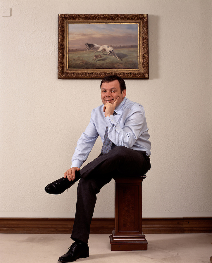 Moscow, Russia, 09/06/2003..Mikhail Fridman, Chairman of Alfa Group and BP-TNK.