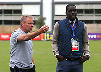 England Manager, Paul Simpson, doesn't want the match to proceed owing to the state of the pitch during Guatemala Under-23 vs England Under-20, Tournoi Maurice Revello Football at Stade Marcel Cerdan on 11th June 2019