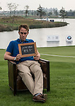"Oliver Walsh was asked by Ballantine's at the BMW Masters to describe how he stays true to himself; his answer is shown. Ballantine's, who recently announced their new global marketing campaign, ""Stay True, Leave An Impression"", is a sponsor at the BMW Masters, which takes place from the 24-27 October at Lake Malaren Golf Club in Shanghai. Photo by Andy Jones / The Power of Sport Images for Ballantines."