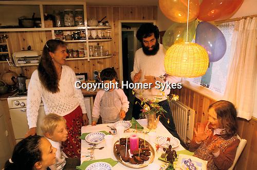 Findhorn Community Scotland Children birthday party.