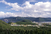 Newfoundland, NF, Canada, Scenic view of Gros Morne National Park from Boone Bay at Morris Point.