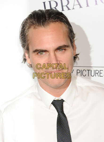 BEVERLY HILLS, CA - JULY 09: Actor Joaquin Phoenix arrives at the Premiere Of Sony Pictures Classics' 'Irrational Man' at the WGA Theatre on July 9, 2015 in Beverly Hills, California.<br /> CAP/ROT/TM<br /> &copy;TM/ROT/Capital Pictures