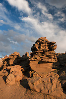 746000054 summer thunderstorm clouds form up over the hoodoos in fantasy canyon blm lands utah united states
