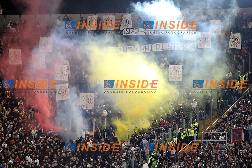 Tifosi della Roma.28/10/2012 Roma, Stadio Olimpico.Campionato di calcio Serie A 2012/2013.Roma vs Udinese.Foto Antonietta Baldassarre Insidefoto