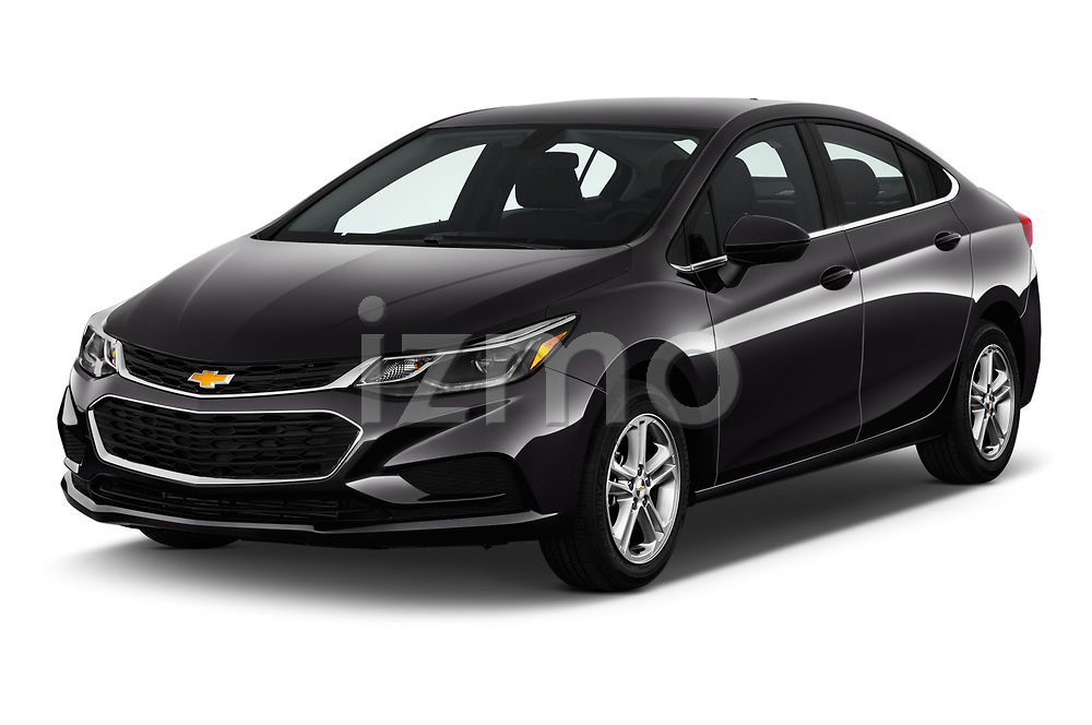 2017 Chevrolet Cruze LT-Auto 4 Door Sedan Angular Front stock photos of front three quarter view
